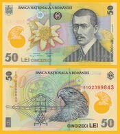 Romania 50 Lei P-120h 2018 UNC Polymer Banknote - Rumania