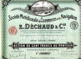 Sociètè MERIDIONALE De COMMERCE Et De NAVIGATION - Navigation