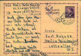 """1944,Karte Aus Dem """"KLV -Lager """"Scjlo0 Napajedl"""", Böhmen Und Mähren Nach Berlin - Covers"""