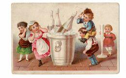 Chromo De Belgique (?), Enfants Avec Grands Objects - Other