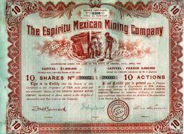 THE ESPIRITU MEXICAN MINING COMPAGNY - Mines