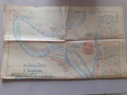 Syrie Euphrate Plan Reconnaissance Du Fleuve 1922 Region Bessiré - Welt