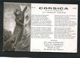 CPA - CORSICA Sur L'air De La Marseillaise - Oorlog 1914-18