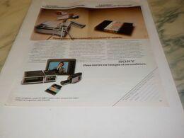 ANCIENNE PUBLICITE  VIDEO CASSETTE SONY 1976 - Altri