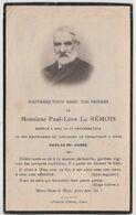 Image Pieuse Post Mortem Généalogie Paul Léon Le Rémois Dives  (14) Décès 1929 Maire Hostellerie Guillaume Le Conquérant - Devotieprenten