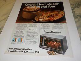 ANCIENNE  PUBLICITE UN VRAI FOUR  DE MOULINEX  1976 - Altri