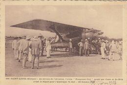"""SAINT-LOUIS (Sénégal): Au Terrain D'Aviation, L'avion """"Nungesser-Coli"""" Monté Par Coste Et Le Brix - 10 Octobre 1927 - 1919-1938: Entre Guerres"""