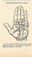 Toutes Les Lignes De La Main. Stampa 1932 - Stagno