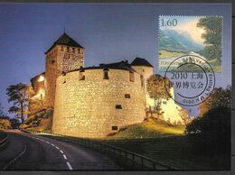 2010 Liechtenstein Mi. 1553-4 A  MK 315  Weltausstellung EXPO 2010, Schanghai - Maximumkaarten