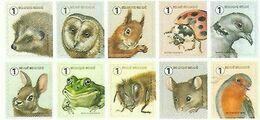2020 Fauna Meersman MNH !! Hérison  Egel Owl Hibou Uil Eekhoorn Ecureuil Frog Grenouille Kikker .... - Belgique