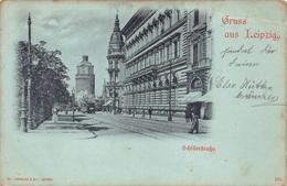 CPA Gruss Aus Almagne Gruss Aus Liepzig  Schillerstrasse  Tram  M 4578 - Gruss Aus.../ Grüsse Aus...