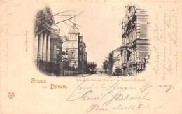 CPA Gruss Aus Almagne Gruss Aus Düren  Schenkelstrasse Mit Blick Auf Dams Bismarck Denkmal     M 4586 - Gruss Aus.../ Grüsse Aus...