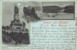 CPA Gruss Aus Almagne Gruss Aus Bingen  Schloss Rheinstein , National Denkmal Niederwald      M 4588 - Gruss Aus.../ Grüsse Aus...