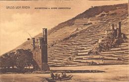 CPA Gruss Aus Almagne Gruss Vom Rhein , Mauseturm U. Ruine Ehrenfels    M 4590 - Gruss Aus.../ Grüsse Aus...