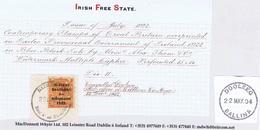 Ireland Mayo 1922 Rubber Climax Dater Of Dooleeg In Irish DAIMHLIAG Beal A' An Fheadha 28 DEC 22 On Piece Thom Rialtas 2 - Ohne Zuordnung
