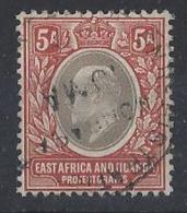 """K.U.T...KING EDWARD VII...(1901-10..).."""" 1903..""""....5as.......WATERMARK CROWN CA.......(CAT.VAL.£55...)....VFU.. - Herrschaften Von Ostafrika Und Uganda"""