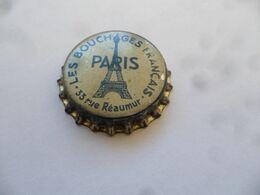 """(Ancienne Capsule Publicitaire à Identifier  ????.....) -  """" LES BOUCHAGES FRANCAIS, PARIS """"  (Tour Eiffel...!!) - Soda"""