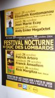 Carte Postale (Cart'Com 2004) Festival Nocturne Au Duc Des Lombards (E. Kontomanou, JM Ecay, P. Artero...) - Advertising