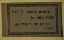 36 Indre Saint Gaultier Ecole Primaire Superieure De Jeunes Filles Carnet Se 12 Cartes - Sonstige Gemeinden