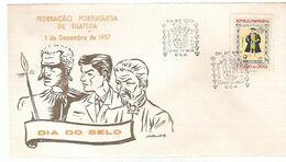 India &  FDC Ultramar, Stamp Day, Estado Da India Goa 1957  (9996) - Tag Der Briefmarke