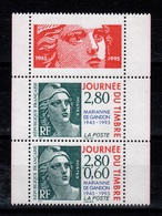 YV 2934Aa N** Paire 2933a + 2934 + Vignette - Unused Stamps
