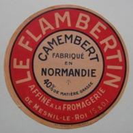 Etiquette Camembert - Le Flambertin - Fromager.Affineur De Mesnil-le-Roi 78 - Normandie   A Voir ! - Quesos