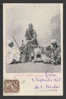 Egypt - 1906 - Very Rare - Vintage Post Card - Traveling Coffee Maker, Egypt - 1866-1914 Khedivate Of Egypt