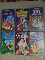 Lot - 6 Cassettes Vidéo Walt Disney - Cartoons