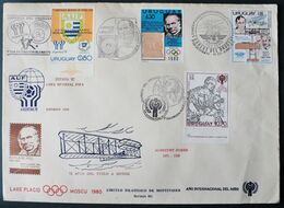 1978 Uruguay  FDC Special Postmarks - Footbal Argentina 78 Spain 82 World Champion-Rowland Hill- Painting Durer-aviation - Uruguay