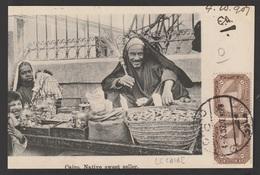 Egypt - 1907 - Very Rare - Vintage Post Card - Native Sweet Seller - Cairo - 1866-1914 Khedivate Of Egypt