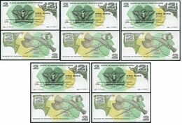 Papua New Guinea - 5 Pcs X 2 Kina 1975 Pick 1 UNC Lemberg-Zp - Papoea-Nieuw-Guinea
