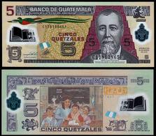 GUATEMALA - 5 QUETZALES - 2013 - UNC - POLYMER - Guatemala