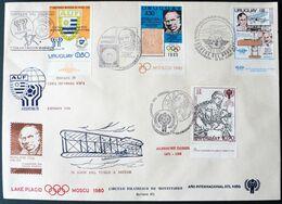 1978 Uruguay  FDC Postmark- Rowland Hill 1st Stamp Olympic Games-Footbal Argentina Spain World Champion- Durer-aviation - Uruguay