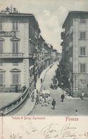 FIRENZE-VEDUTA DI BORGO OGNISSANTI-CARTOLINA VIAGGIATA IL 3-6-1900 - Firenze (Florence)