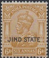 Jind, Scott #132, Mint Hinged, George V Overprinted, Issued 1937 - Jhind