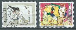 Suisse YT N°1719/1720 Europa 2002 Le Cirque Oblitéré ° - 2002