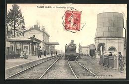 CPA Nangis, Intèrieur De La Gare, La Gare - Nangis