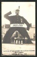 CPA Vertus, 29. Congrès Des Sapeurs-Pompiers De La Marne 27.05.1928, Feuerwehr-Kongress, Festtor - Vertus