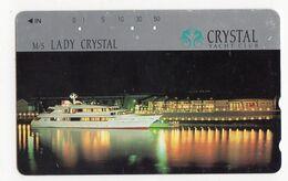 JAPON TELECARTE BATEAU M/S LADY CRYSTAL YACHT CLUB - Bateaux