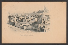 Egypt - 1902 - Very Rare - Vintage Post Card - Old Cairo And Citadel - Cairo - 1866-1914 Khedivate Of Egypt