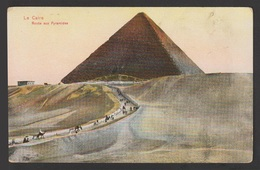 Egypt - Very Rare - Vintage Post Card - Road To The Pyramids - Cairo - 1866-1914 Khedivate Of Egypt