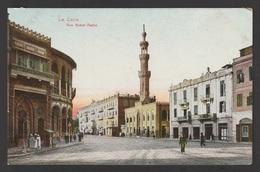 Egypt - Very Rare - Vintage Post Card - Nubar Pasha Street - Cairo - 1866-1914 Khedivate Of Egypt