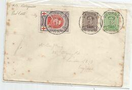 """O  """"VEURNE  FURNES 27  IV  1917  à Dest. De Londres - Zona No Ocupada"""