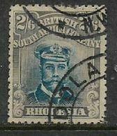 Rhodesia / B.S.A.Co., 1913,Admiral, 2/6, Deep Ultramarine & Grey-brown, Used - Rhodesia Del Sud (...-1964)