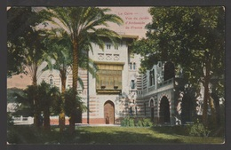 Egypt - Very Rare - Vintage Post Card - View Of The Jardin D'embassy Of France - 1866-1914 Khedivate Of Egypt