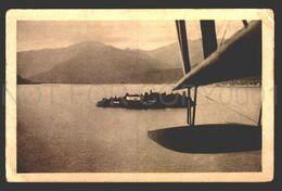 LAGO MAGGIORE VISTI DALL'AEROPLANO ORIGINALE D'EPOCA-VEDI  Cartolina Postale C1900 Cpa Postcard  W6_296 - Verbania