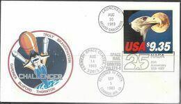 US   1983  Sc#1909  $9.35  Space Mail  Orbited Earth On Challenger  #77035 - Verenigde Staten
