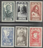 France   1946  Sc#B207-12  Set Of 6 Charities  MLH    2016 Scott Value $9 - Ongebruikt