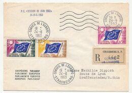 FRANCE - Env Reco, Affr 0,20, 0,25, 0,50 Conseil De L'Europe 24/6/1963 - P.E. Session De Juin 1963 - Lettres & Documents