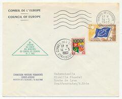 FRANCE - Env Affr 20F Drapeau + 0,05 Oran - OMEC Conseil De L'Europe 14/5/1962 - 30e Session Comité Des Ministres - Lettres & Documents